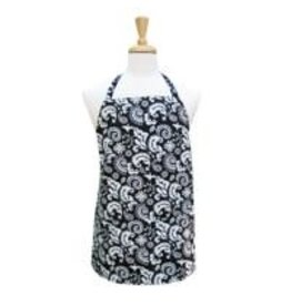 Modern Damask - Black Chef Apron