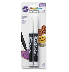 Wilton Wilton Industries 609-1192 Black Food Writer Edible Ink Markers, 2 Count