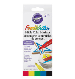 Wilton Wilton FoodWriter Color Bold Tip Edible Markers, 5-Piece