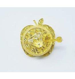 Personal Mini Apple Honey Dish - Gold