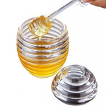 Lucite Honey Jar w Server