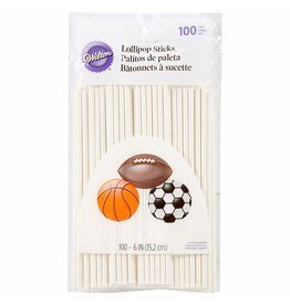 Wilton Wilton White 6-Inch Lollipop Sticks, 100-Count