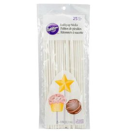 Wilton Wilton Lollipop Sticks, 8 Inch 25 Count