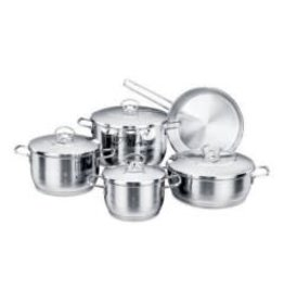 Korkmaz 10 Piece Cookware Set, includes Saucepans Stockpots and Frying Pans #A1901