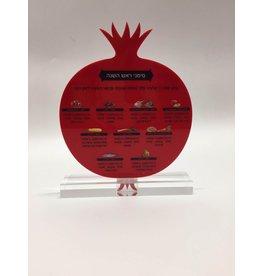Pomegranate Rosh Hashanah Simonim Card