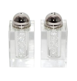 """3004 3"""" Salt and Pepper Crystal W Stones"""