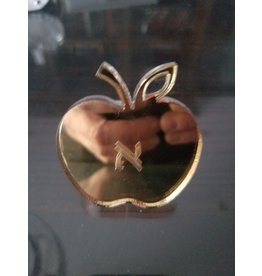 Monogrammed Apple Gold Napkin Ring