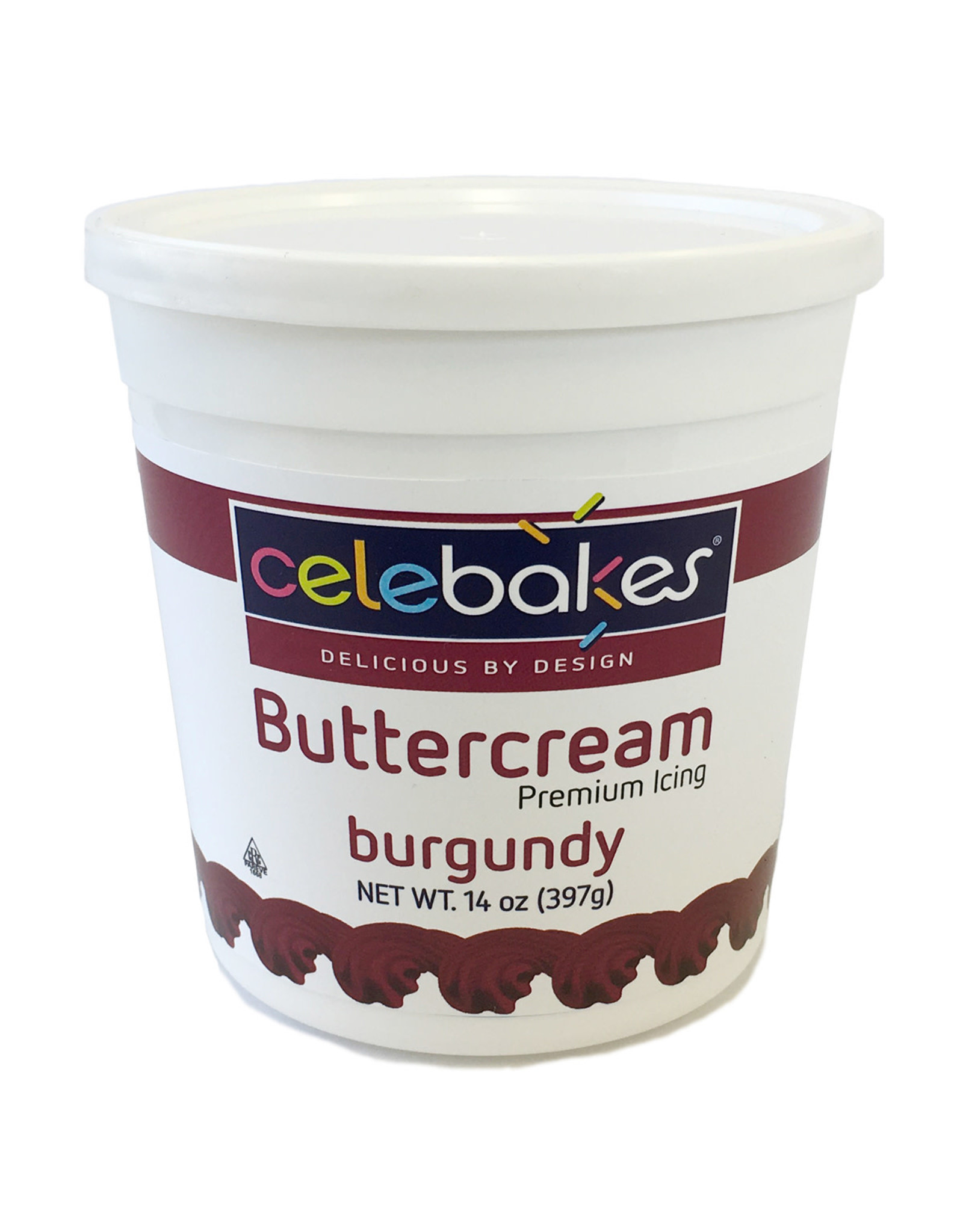 14 oz Celebakes Burgundy Buttercream Icing