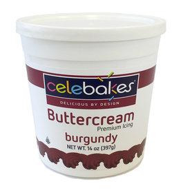 14 oz Celebakes Burgundy Buttercream Icing