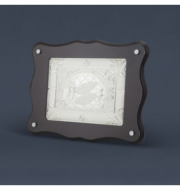 Hazorfim Wood & Silver Challah Board