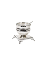 X1553 Beaded Silver Plated Salt Holder