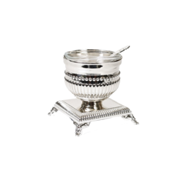 X1553 Beaded Silver Plated Salt Holder