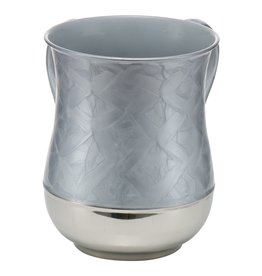 SS Enamel Grey & Silver Washing Cup