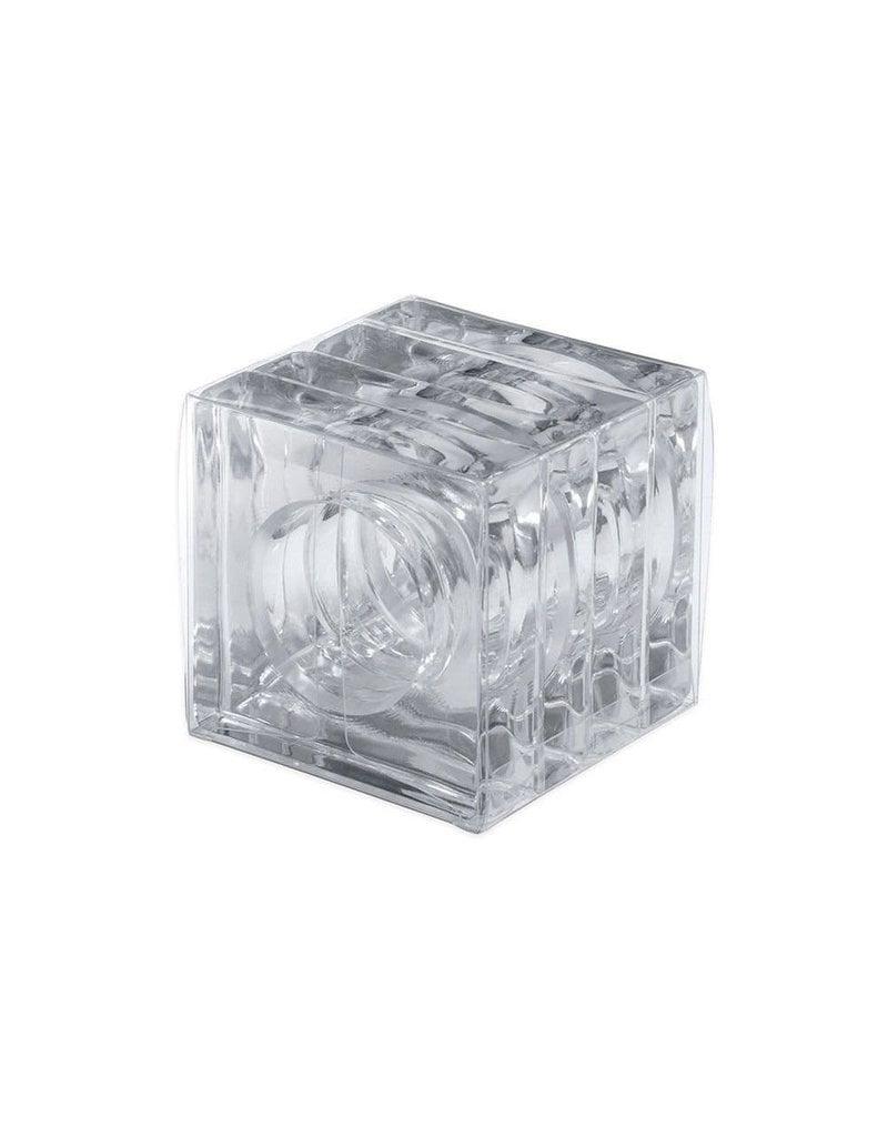 Set of 4 Acrylic Napkin Rings - Crystal