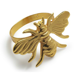 Bee Gold Napkin Ring