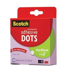 SCOTCH ADHESIVE DOTS MEDIUM 300/PK