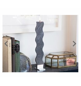 Anthracite Rippled Candle
