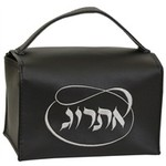 Majestic Giftware Esrog Box Vinyl - Black W/Silver Embroider - #EBVBK-B