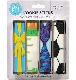 Pack of 4 Cookie Stick Cutters