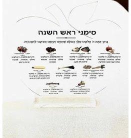 Multi Colored Rosh Hashana Simonim Card - Clear