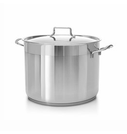 Ybm Home Stainless Steel Stockpot with Lid 7 Quart 22x18 cm H8