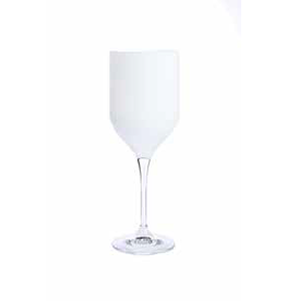 CWR2027W White Footed Water Glasses