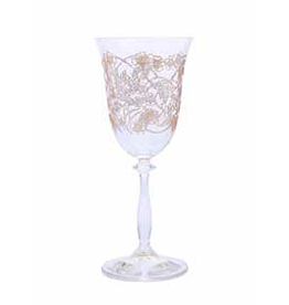CWG2024 Water Glasses with Gold Floral Artwork