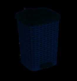 6 Liter Wicker Look Trash Can Gray