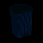 26 Liter Wicker Look Trash Can Gray
