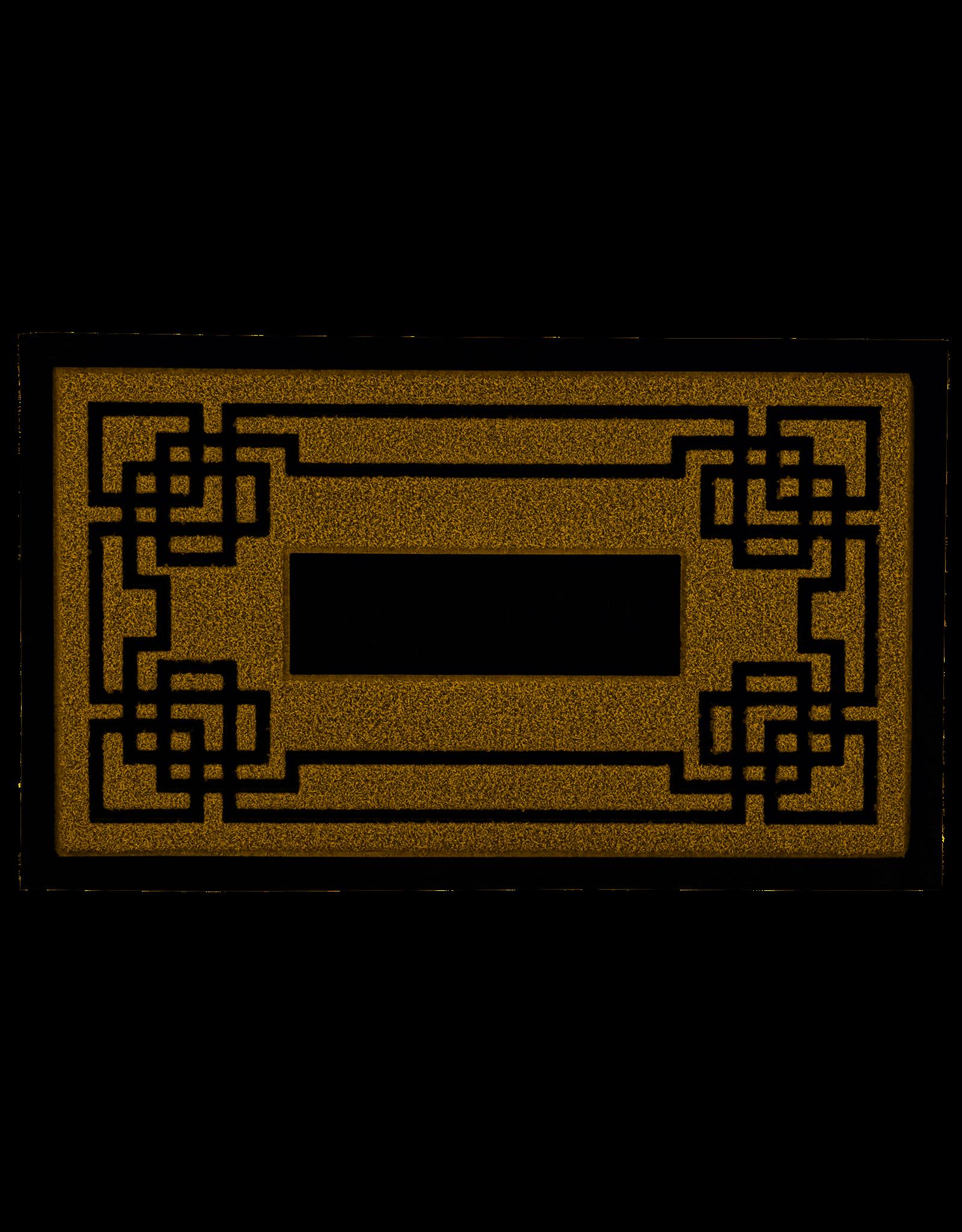 "Natural Greek Key Coir Doormat 18"" x 30"""