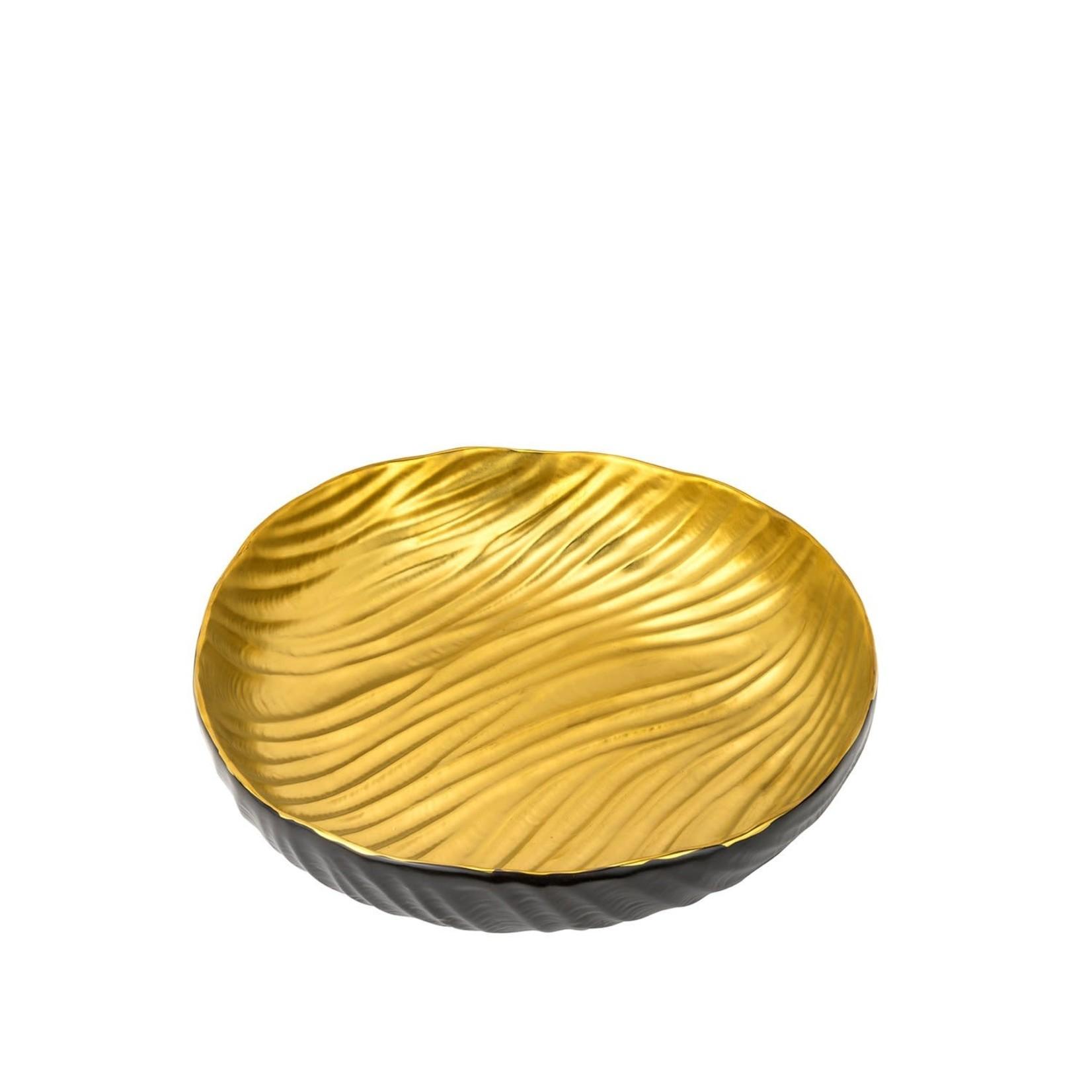 044 Large Black/Gold Bowl