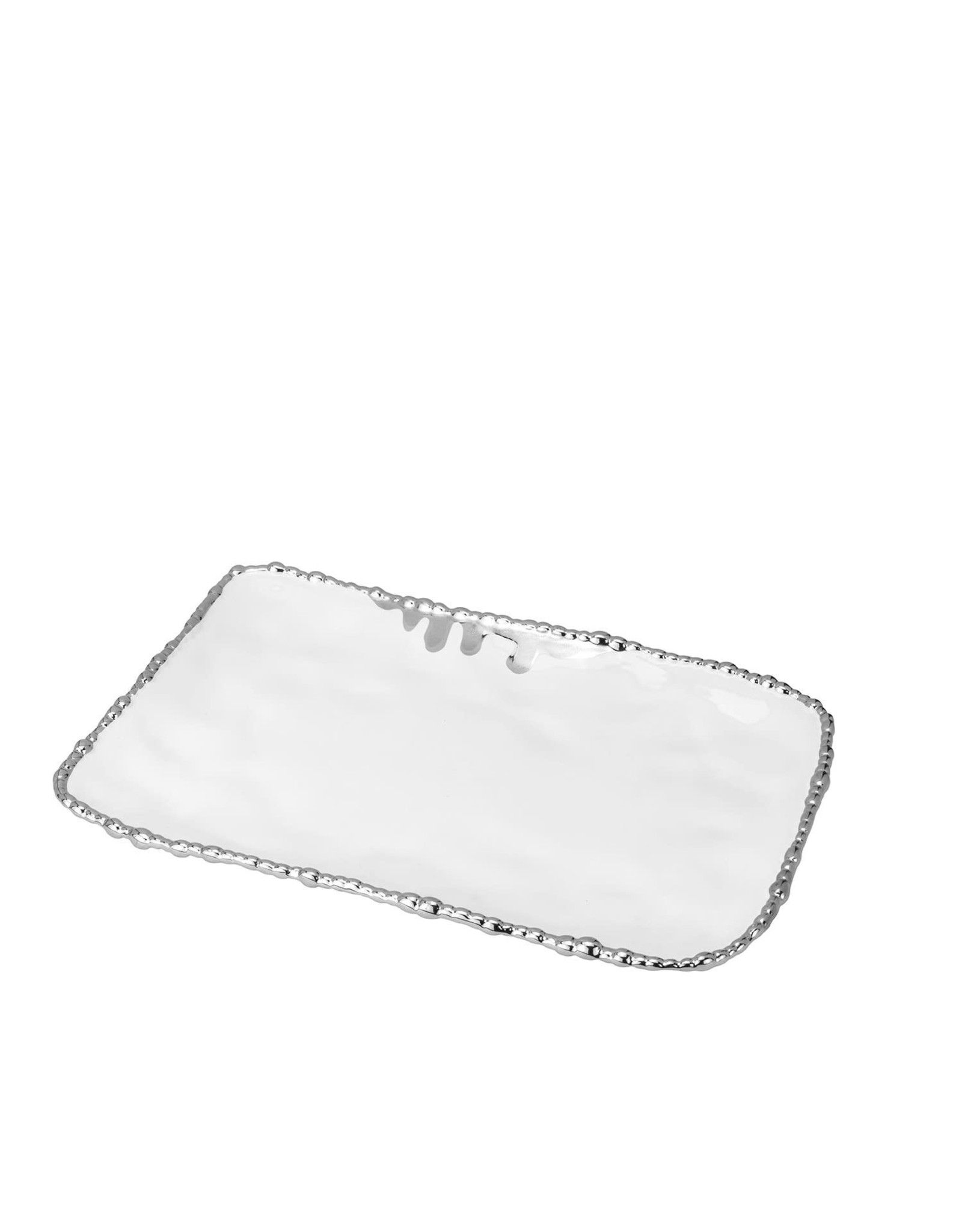 280S White/Silver Serving Tray