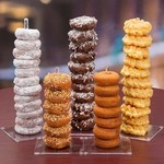 Presented Touch Donut Stand Donut Stand Design Clear