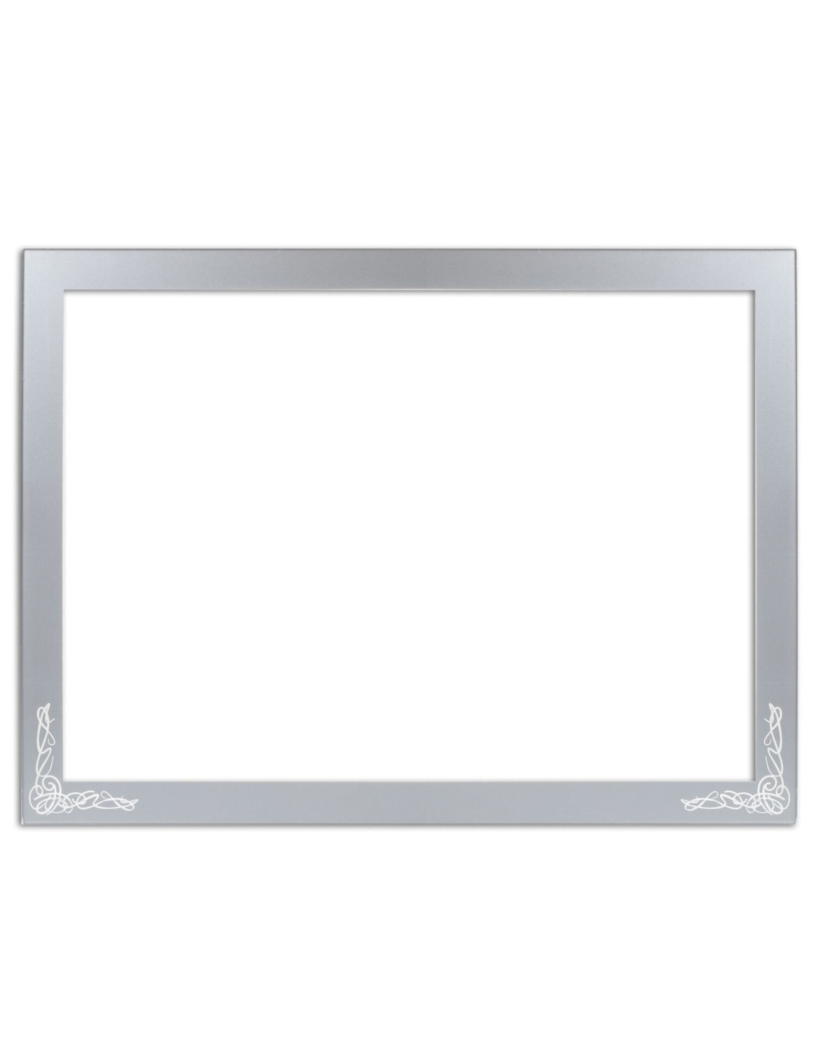 Presented Touch Chanukah Menorah/Leichter Tray Cornered Design Design Clear Silver