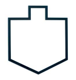 Presented Touch Chanukah Table Charger Dreidel Shape Design Clear Blue