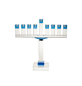 "Legacy 19"" Crystal menorah Blue"