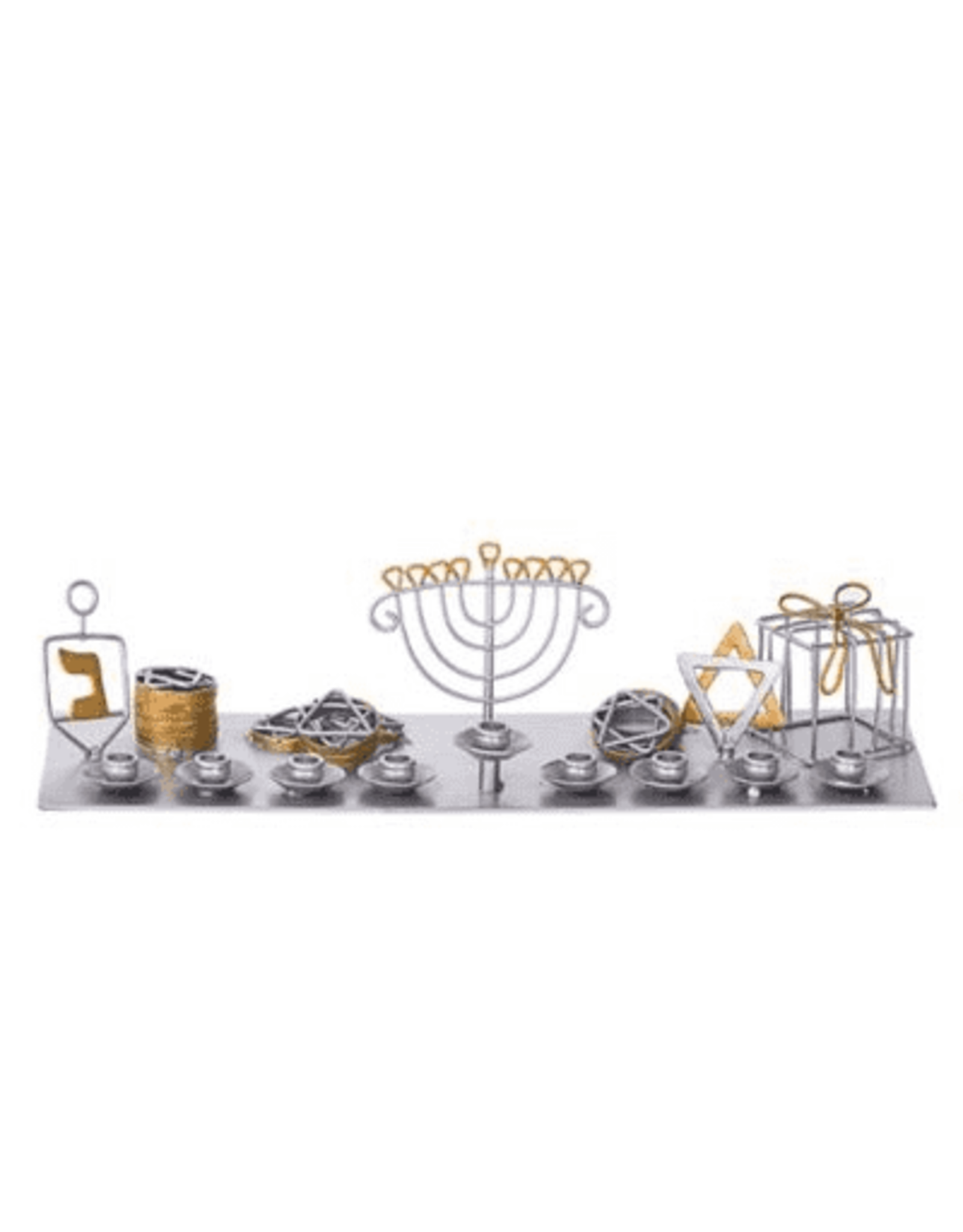 Legacy Menorah with Dreidel, Gelt and Gift Box