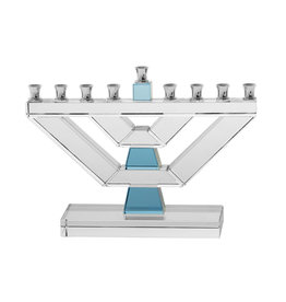 Legacy Menorah Crystal with Blue