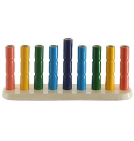 "4""x2""x9"" Rainbow Menorah"
