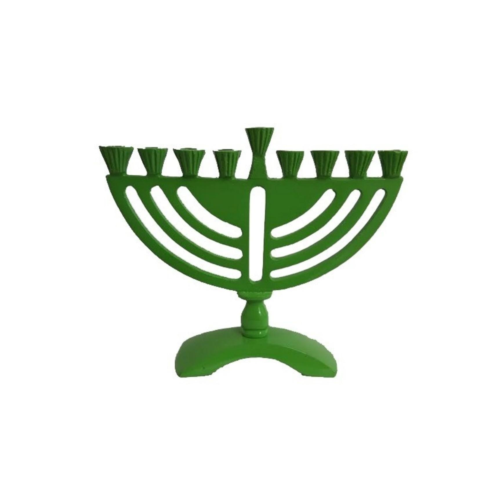 """5.5"""" Green Menorah"""