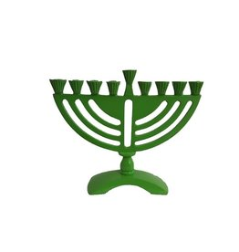 "5.5"" Green Menorah"