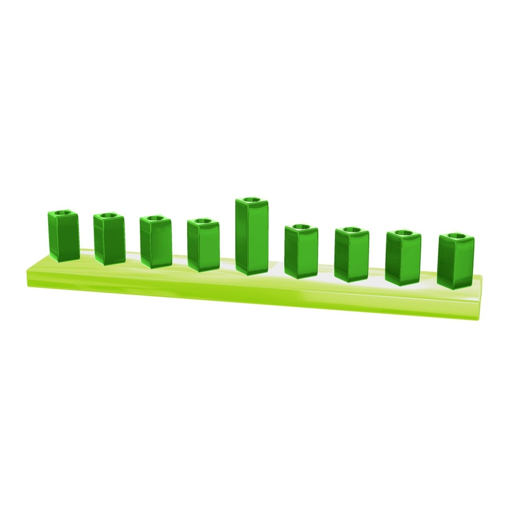 """9/14x2x2"""" Green Menorah"""