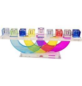 "4.5x11"" Multicolor Crystal Menorah"