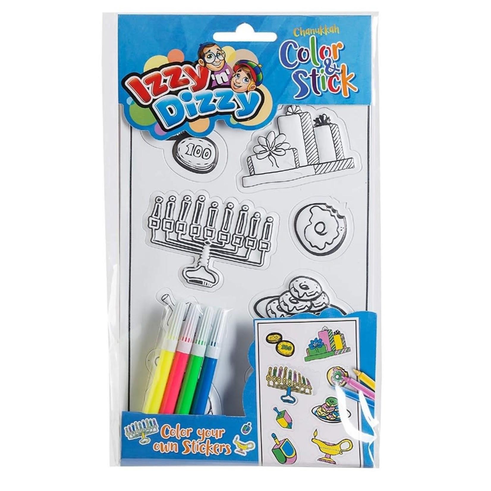 12 X Chanukah Color & Stick