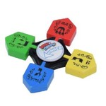 24 X Dreidel Spinners - Multi Colored