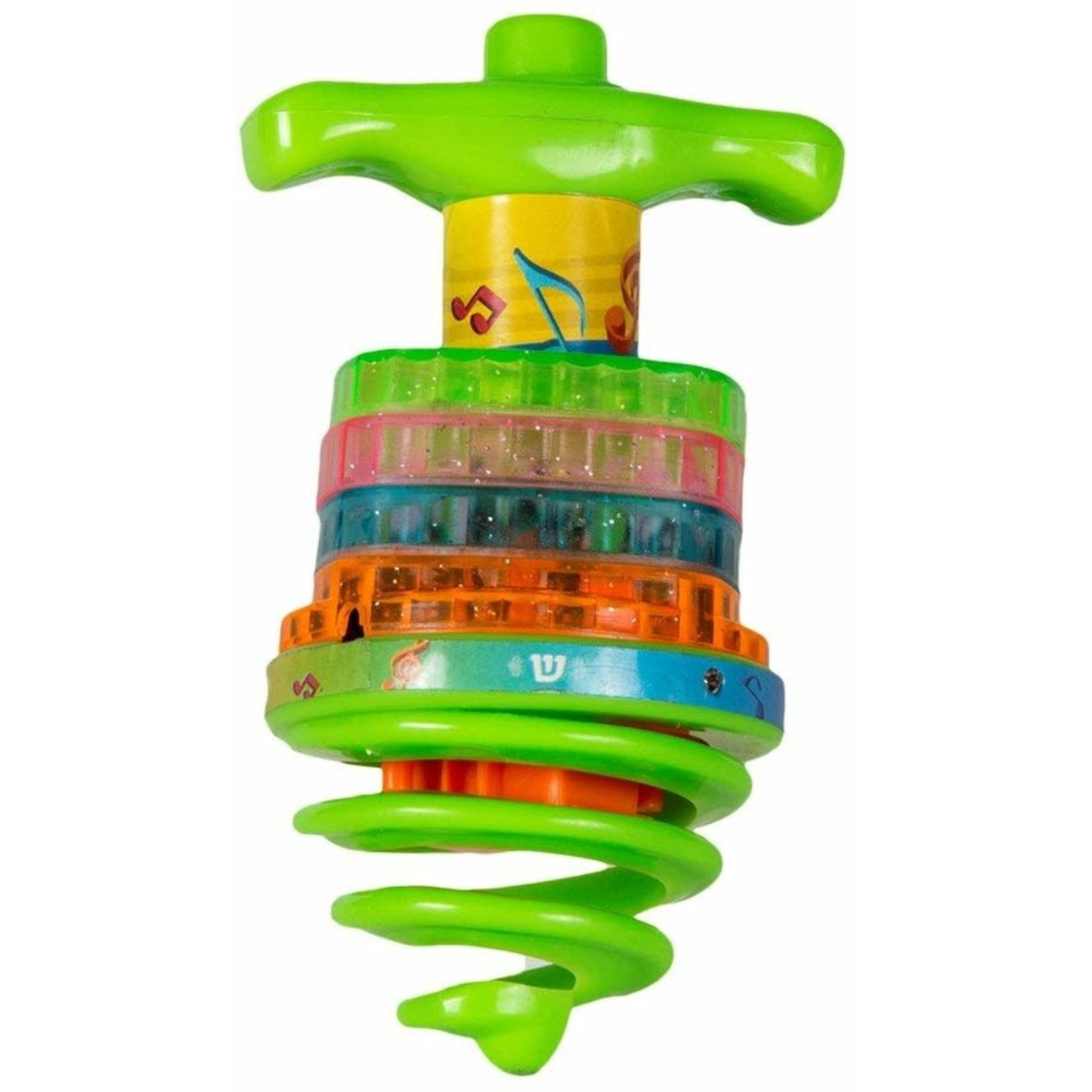 12 x Bouncing Musical Dreidel - Square