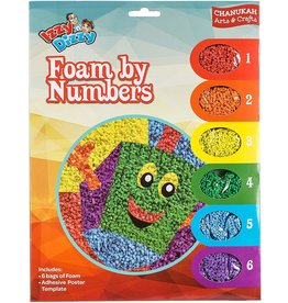12 x Chanukah Foam by Numbers Kit