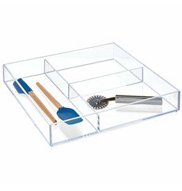 Interdesign Clarity Drawer Organizer 12'' x 12'' x 2''