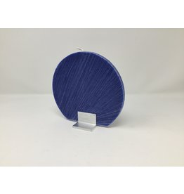 Disc Candle Set with Holder - Dark Blue