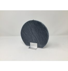 Disc Candle Set with Holder- Dark Grey